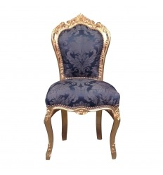 King blue baroque chair