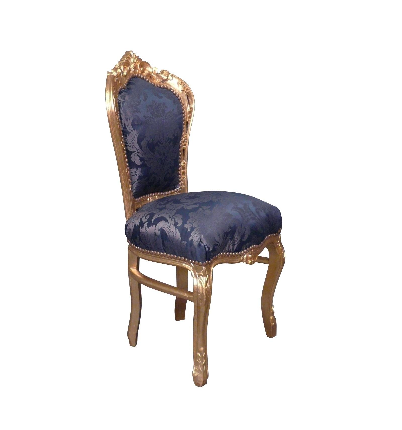 chaise baroque bleu roi en bois sculpt magasin de chaises baroque. Black Bedroom Furniture Sets. Home Design Ideas