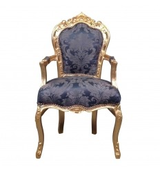Barock Sessel Royal Blue
