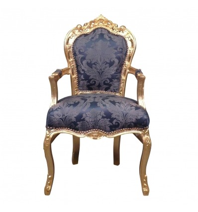 Royal Blue barock fåtölj -