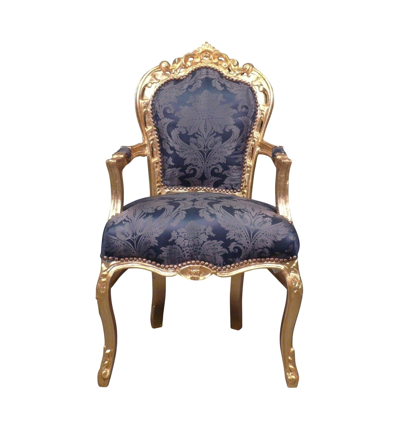 fauteuil baroque bleu roi. Black Bedroom Furniture Sets. Home Design Ideas