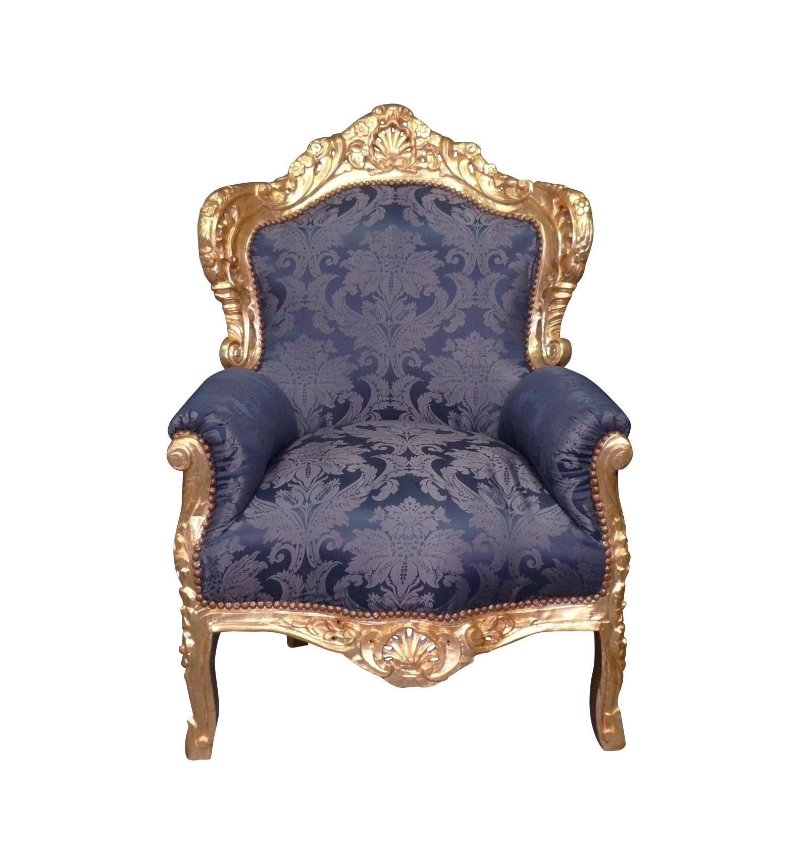 Armchair baroque royal blue
