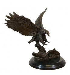 Eagle posa - statua in bronzo
