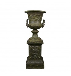 Vase Medicis cast on base - H: 112 cm