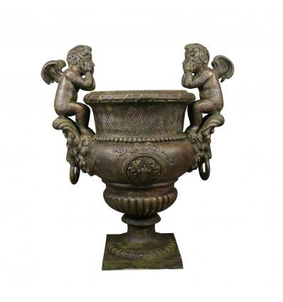 Medicis Gusseisen Vasen Putten H: 99 cm - Medici Vasen -