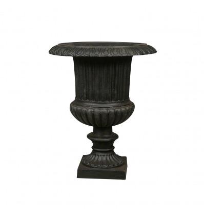 Vases Médicis en fonte de fer 48 cm noire