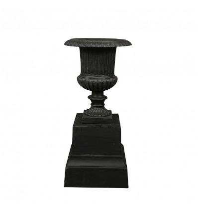 Medici cast iron vase on base - H: 85 cm - Medici Vases -