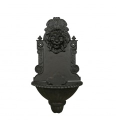 Gjutjärn fontän vägg lejon huvud