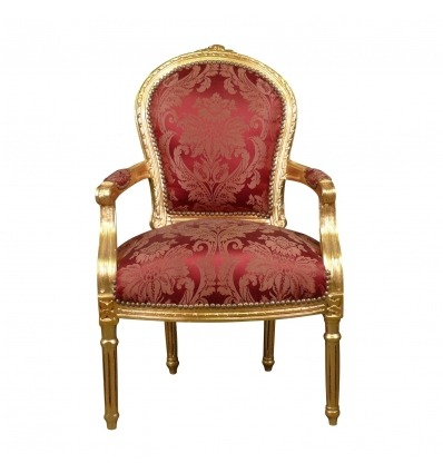 Louis XVI armchair red baroque style