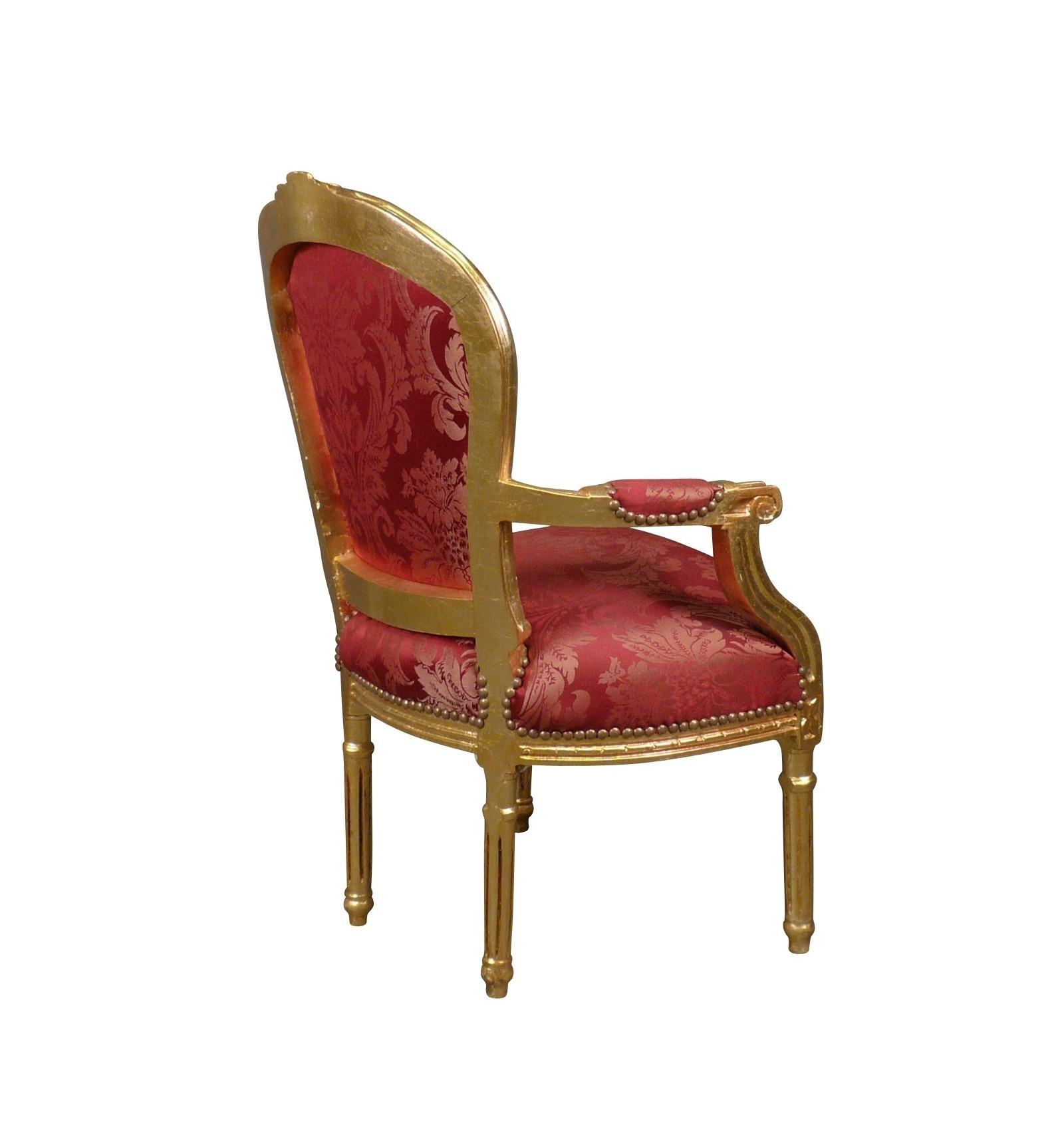 Silla luis xvi rojo de estilo barroco - Sillas louis xvi ...