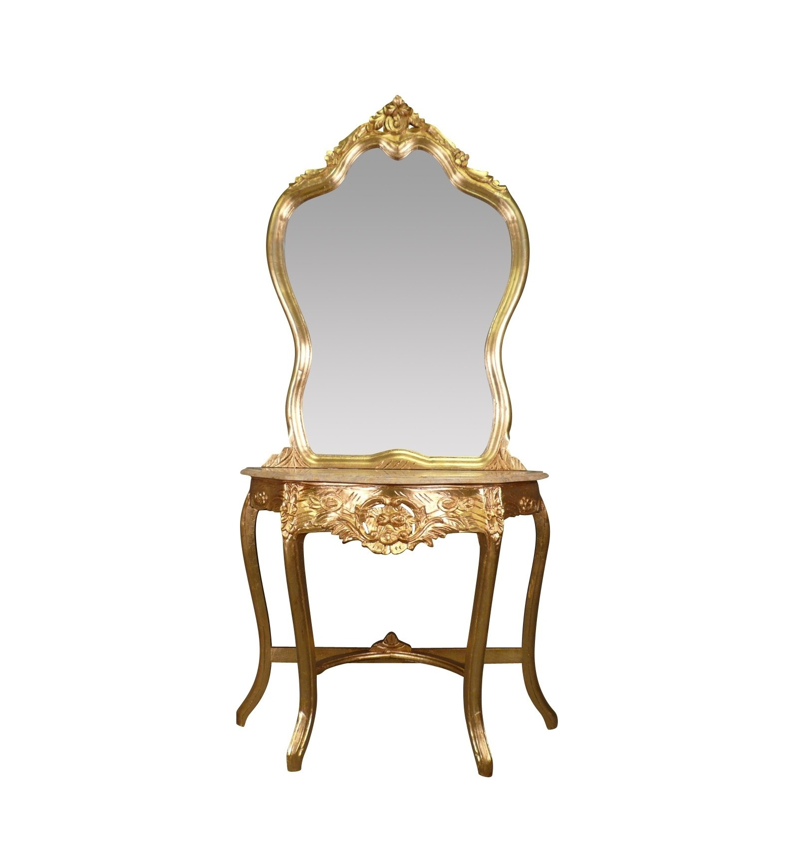 console baroque en bois dor e. Black Bedroom Furniture Sets. Home Design Ideas