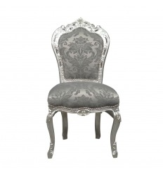 Baroque gray fabric chair