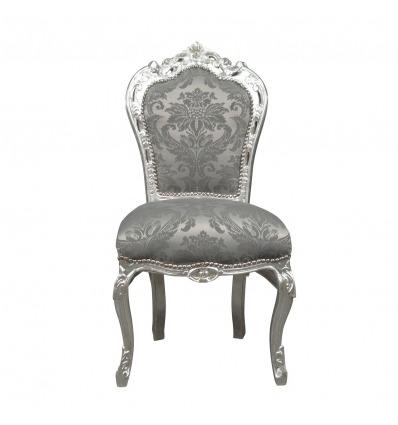 Barokk szék szürke szövet - barokk székek -