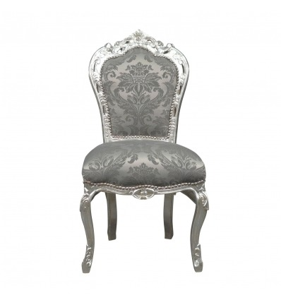 Baroque chair in gray fabric - Baroque chairs