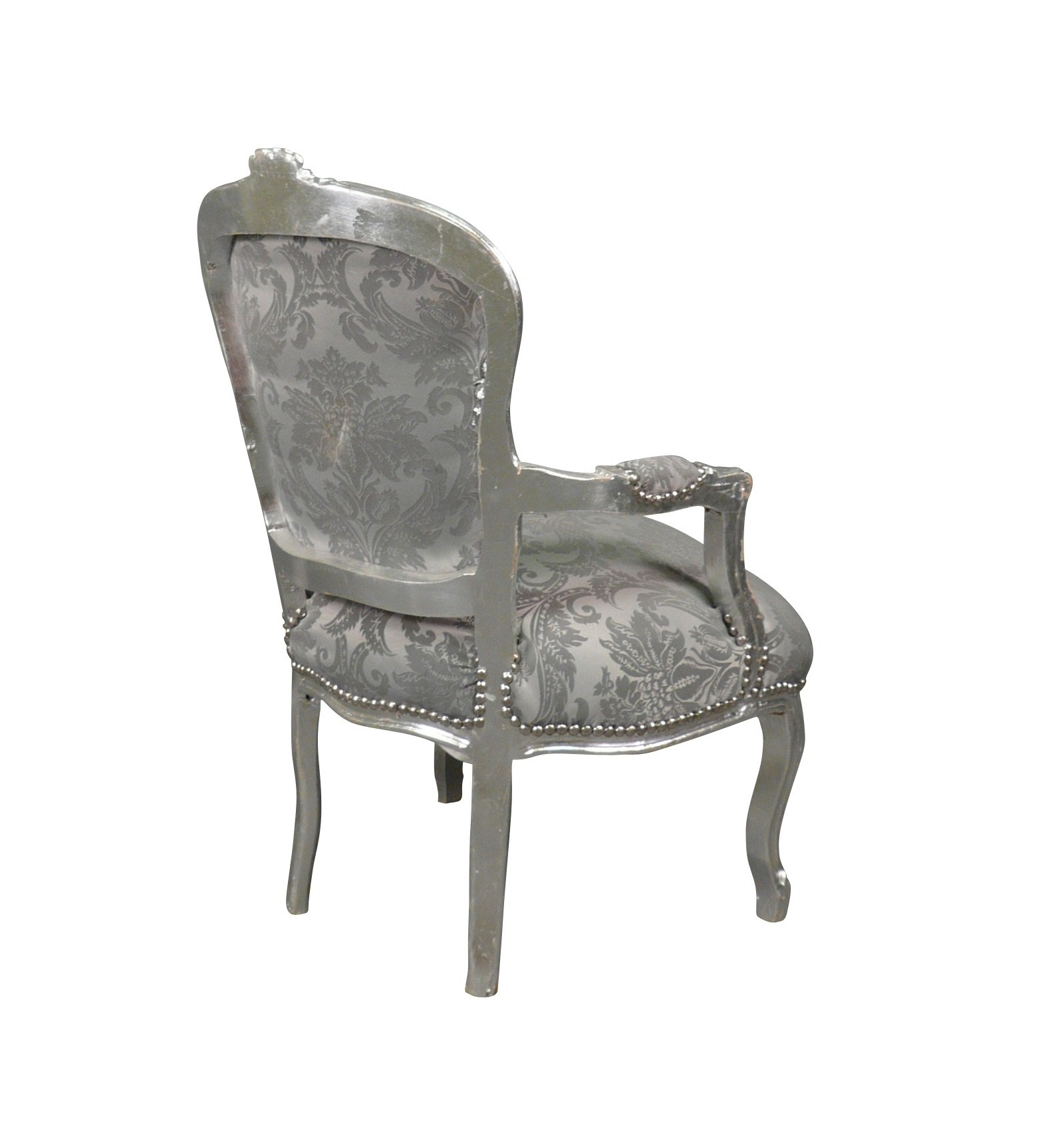louis xv armchair fabric grey velvet seats style solid wood. Black Bedroom Furniture Sets. Home Design Ideas