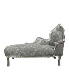 Gray baroque chaise longue
