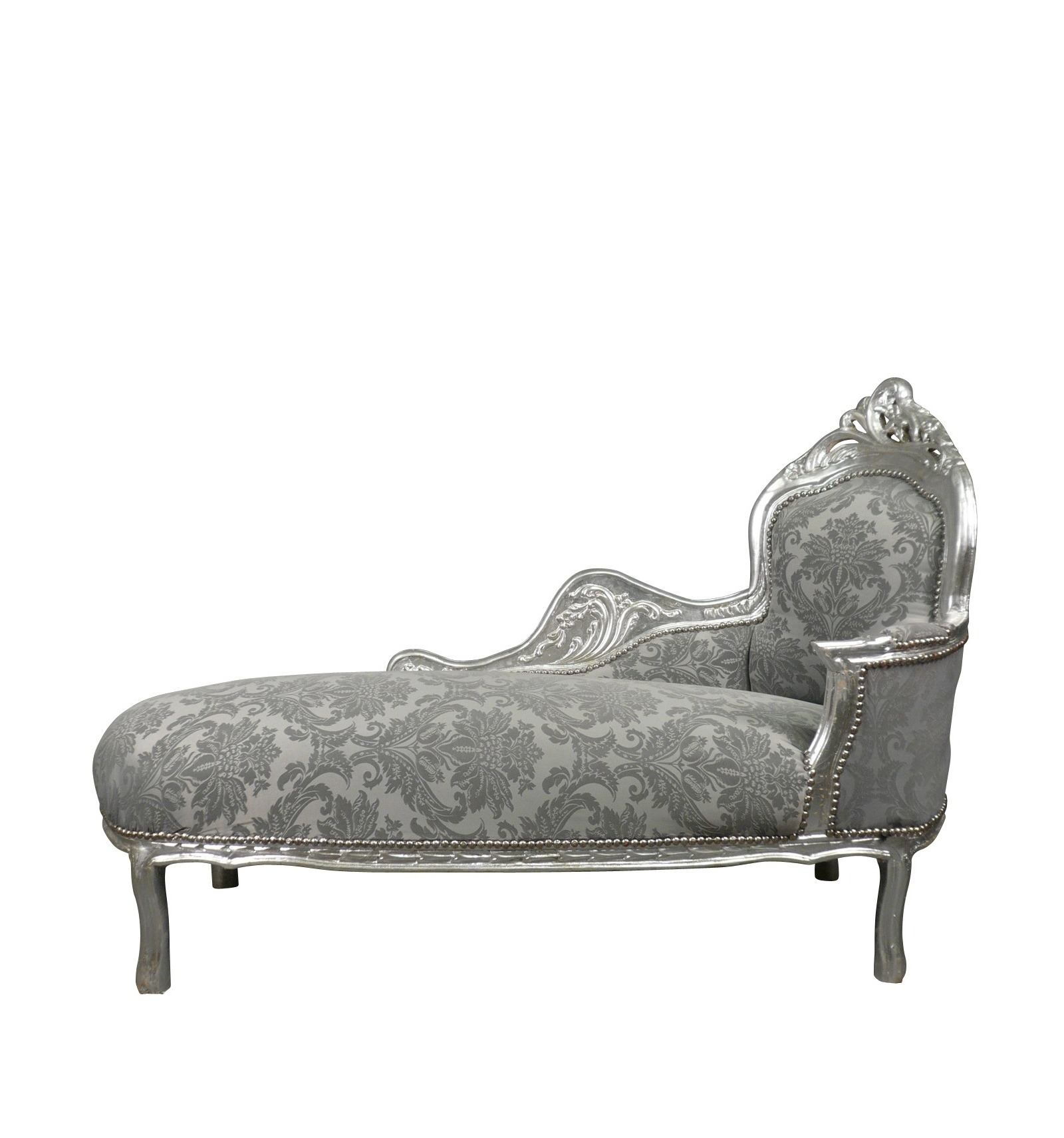 Chaise baroque grey - Chaise baroque argentee ...