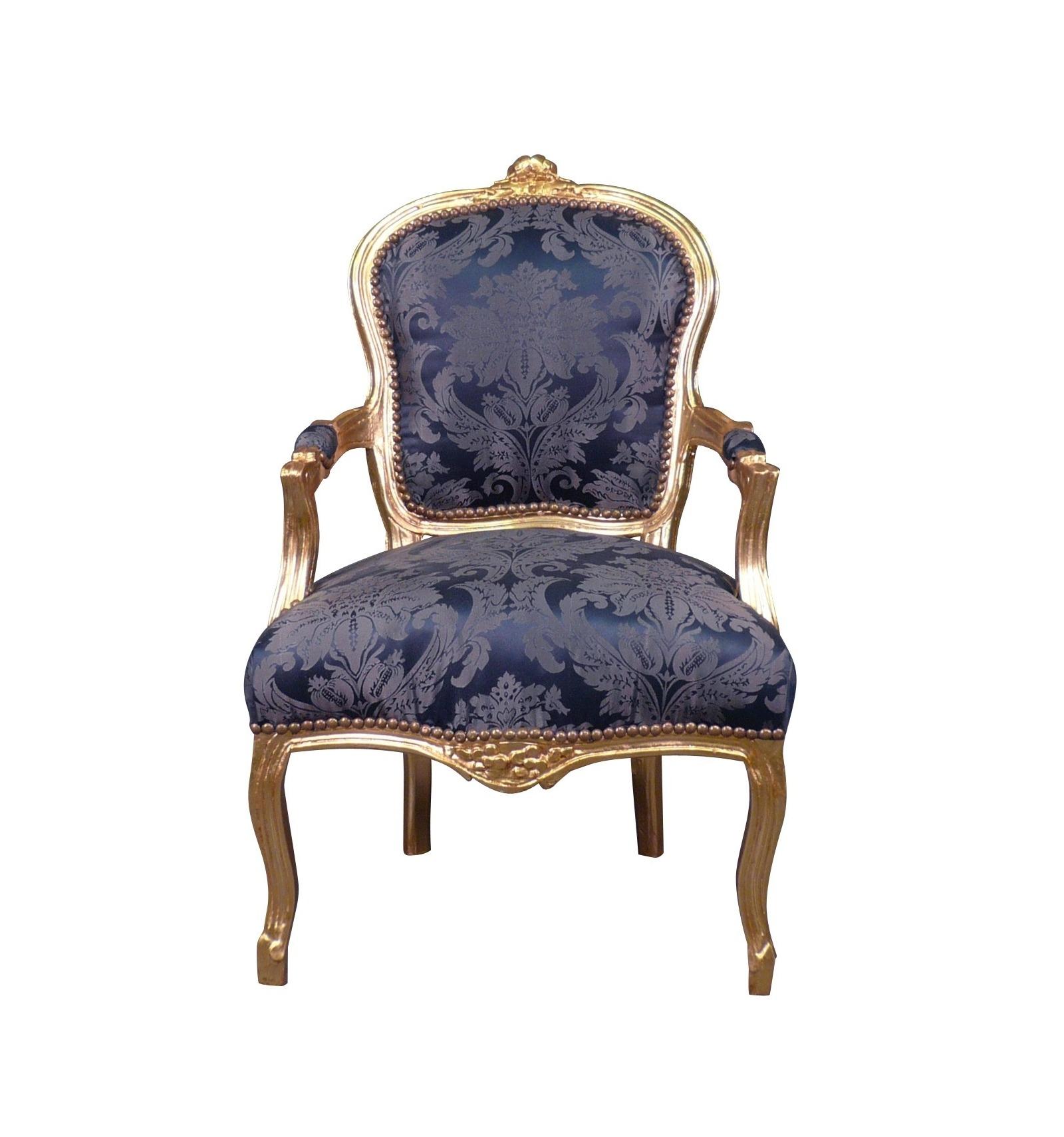 Chaise Salle A Manger Louis Xv fauteuil louis xv bleu roi