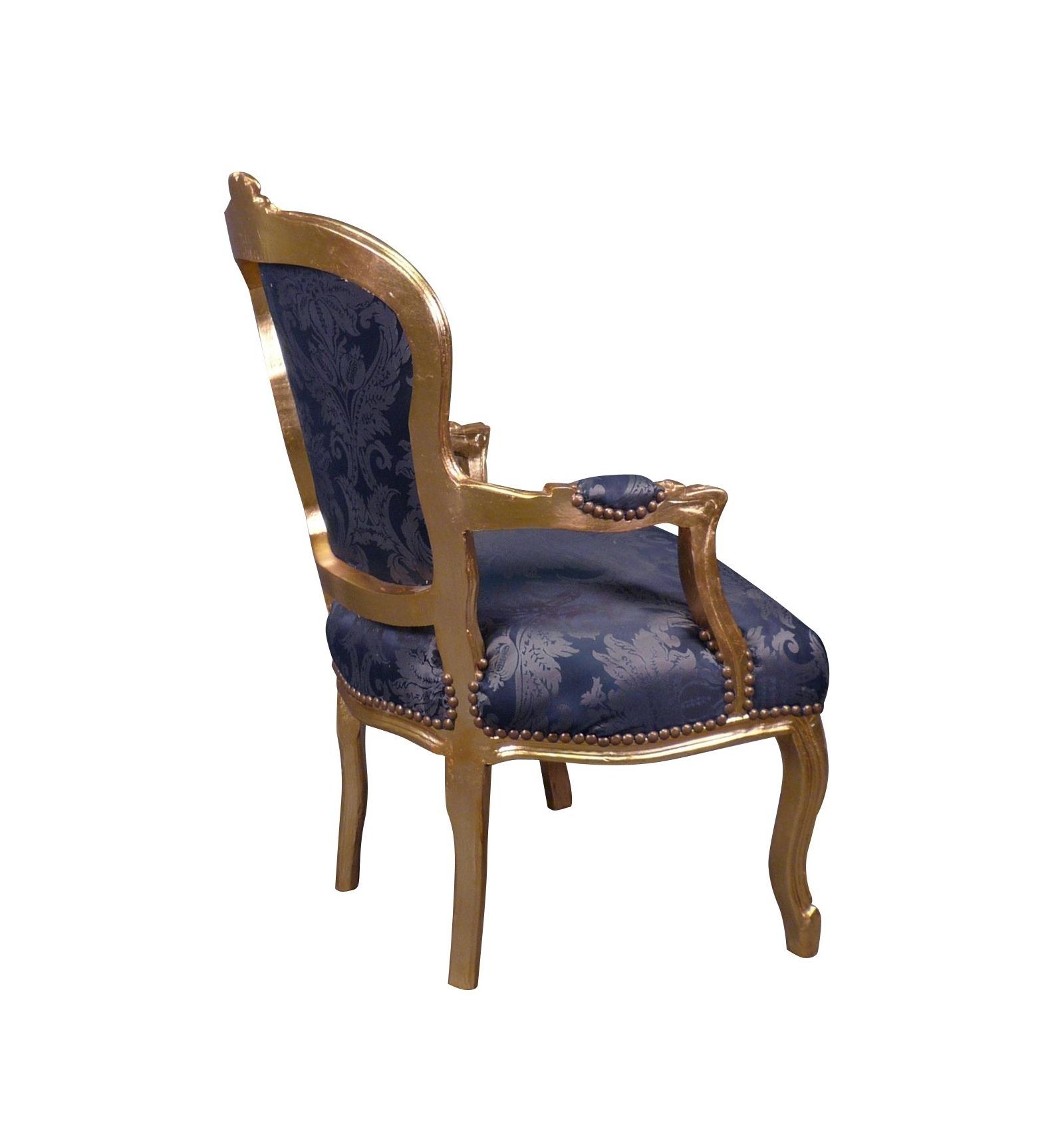 fauteuil louis xv bleu roi meubles et assises louis xv. Black Bedroom Furniture Sets. Home Design Ideas