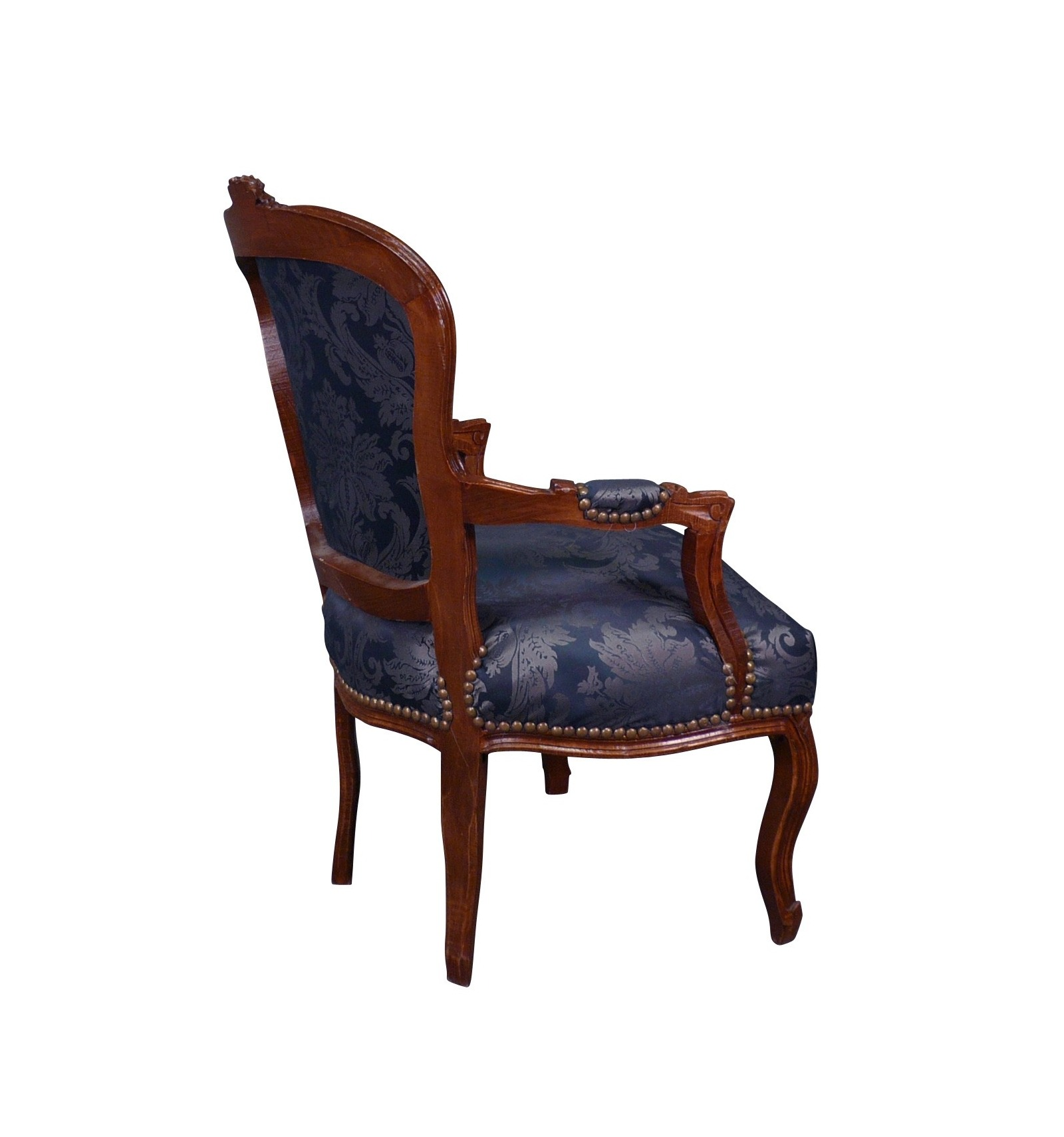fauteuil louis xv bleu. Black Bedroom Furniture Sets. Home Design Ideas