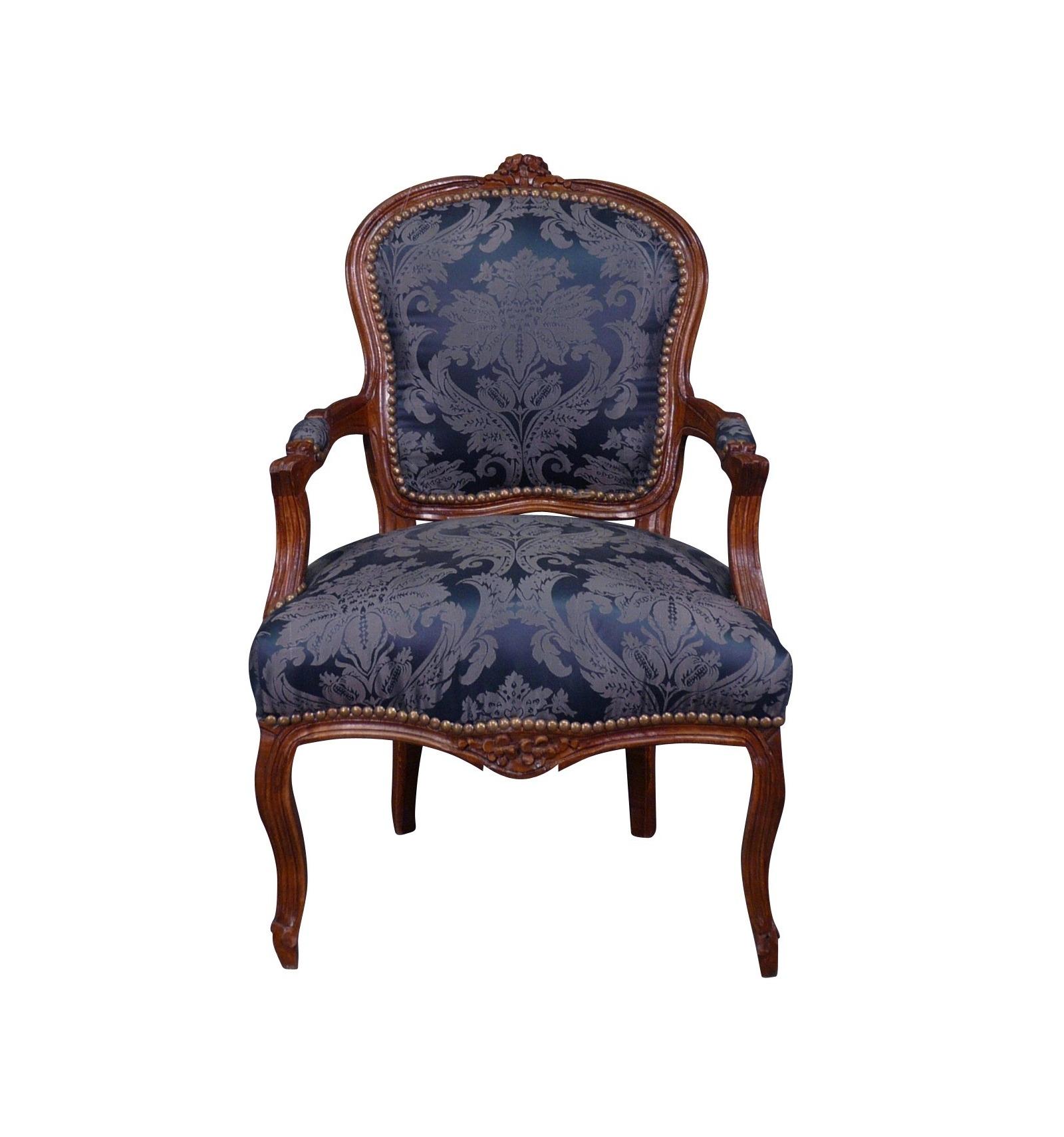 fauteuil louis xv bleu mobilier de style louis xv. Black Bedroom Furniture Sets. Home Design Ideas