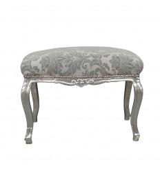 Banquette baroque en tissu gris