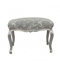 Panchina barocco in tessuto grigio