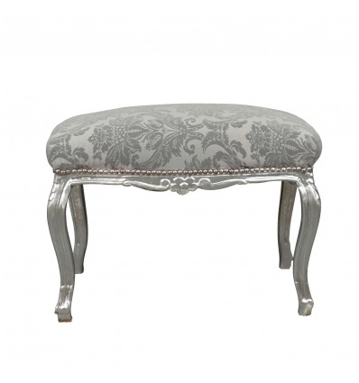 Baroque banquette in gray fabric