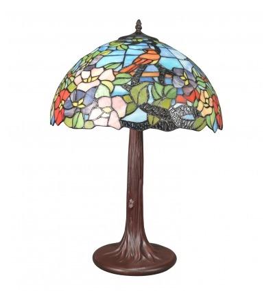 Lampada in vetro Tiffany blu