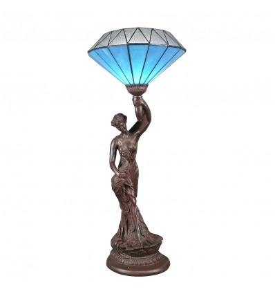 Lampada Tiffany diamanti blu a forma di statua - Lampade Tiffany