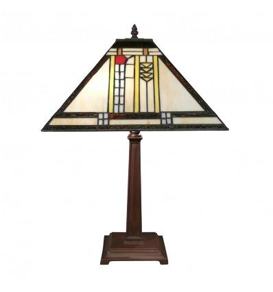 Lámpara Art Deco Tiffany Mission