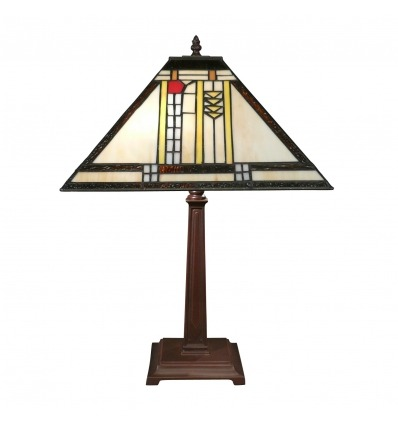 Tiffany Mission Art Deco Lamp