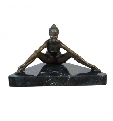 Ballerina in formazione, bronzo scultura di donna