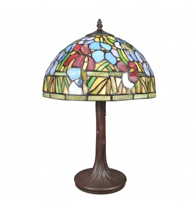 Tiffany lamp with bamboo flowers