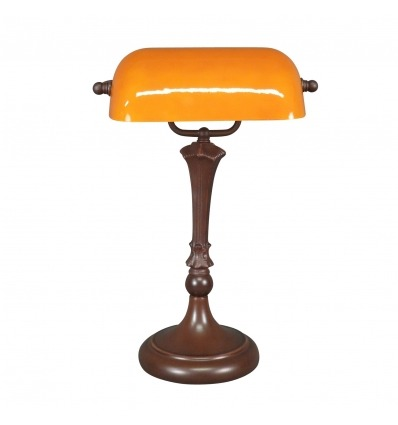 Scheinbare gelbe Schreibtischlampe Tiffany