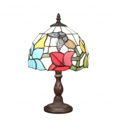 Tiffany lamp with a butterfly