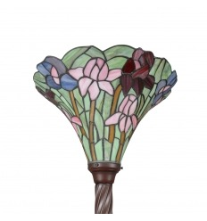 Lampada tiffany piantana con tulipani