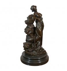 Statue en bronze de la Déesse Grecque Hébé