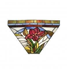 Tiffany wall lamp in art nouveau style