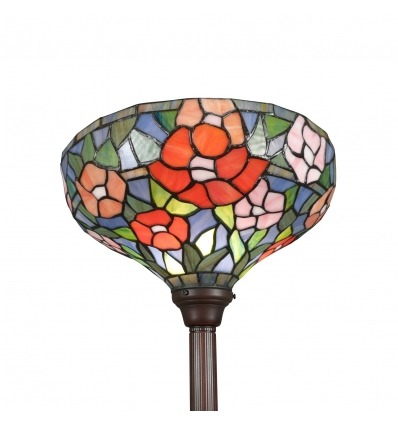 Tiffany floor lamp in flare style