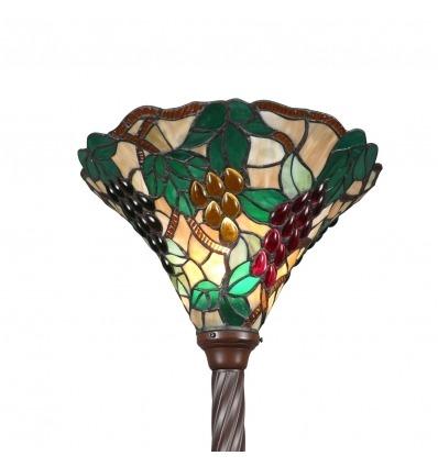 Lampadaire Tiffany grappes de raisins