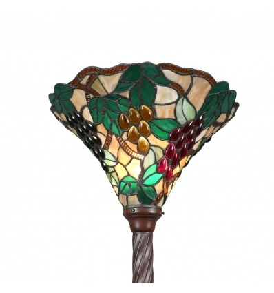 Tiffany lamppost bunches of grapes