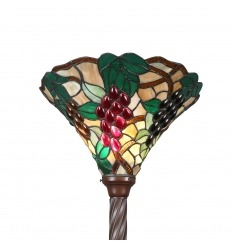 Uplighter Tiffany Floor Lamp bunches of grapes