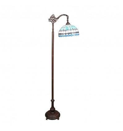 Lámpara de pie Tiffany azul mediterráneo -