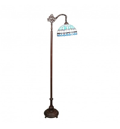 Mediterranean blue Tiffany floor lamp