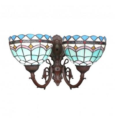 Lámpara de pared de Tiffany de la colección mediterránea.