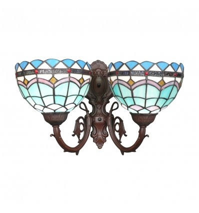 Mediterranean Collection Tiffany wall sconce