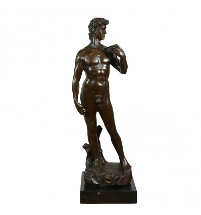 """Il """"David"""" - Statua, la mitologia di bronzo dopo michelangelo -"""