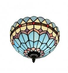 Tiffany ceiling light blue