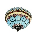 Luce di soffitto Tiffany blu